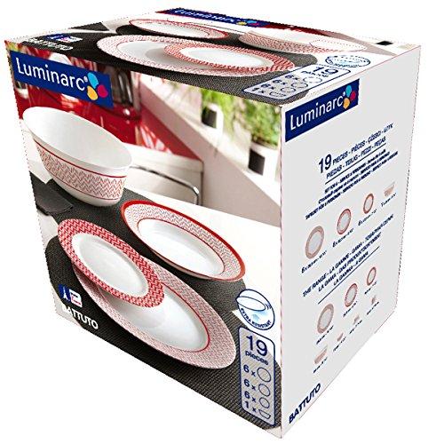 services de vaisselle luminarc 0883314171747 moins cher en ligne maisonequipee. Black Bedroom Furniture Sets. Home Design Ideas