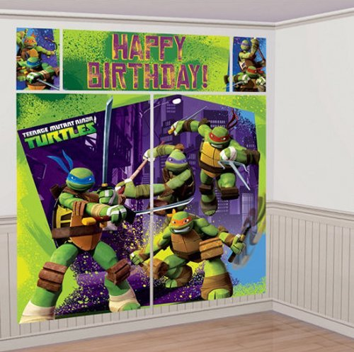 Teenage Mutant Ninja Turtles Party Giant Scene Setter Wall Decorating Kit (5pc)