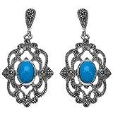 Silvantra Onyx Silver Earrings