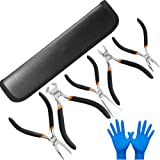 EDurable 5 Piece Mini Pliers Set Electronic Pliers, Craft & Jewelry Making Tool Kit Professional Hand Tools - Needle Nose Long Nose Round Nose Diagonal Cutting End-Cut Pliers (5-Pack) (Tamaño: 5-Pack)