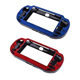 MonkeyJack 2pcs Protective Case Cover Skin for Sony PlayStation ps vita 1000 Controller Blue and Red