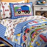Olive Kids Trains, Planes and Trucks Twin Comforter & Sham Combo Mini-set