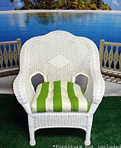 com wicker furniture outdoor patio chair cushion summer green