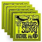 Ernie Ball 2221 Nickel Regular Slinky Electric Guitar Strings - 5 Pack