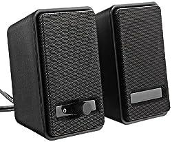 AmazonBasics A100 USB Powered Speakers (Black)