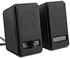 AmazonBasics USB Powered Speakers (Black)