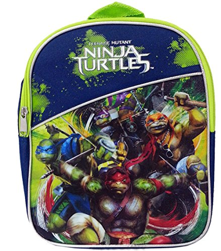 "TMNT Teenage Mutant Ninja Turtles 11"" Mini Toddler Pre-school Backpack - 1"