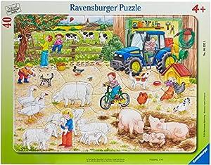 Ravensburger 06332 - Auf dem großen Bauernhof - 40 Teile Rahmenpuzzle