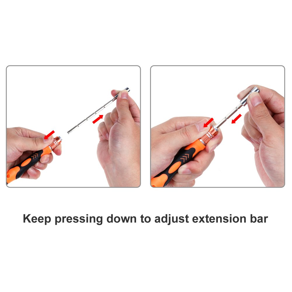 Vastar 62 in 1 with 56 Bit Magnetic Driver Kit, Precision Screwdriver Set Smartphone Repair Tool Kit for iPhone 7, iPhone 7 Plus and other Cell Phone, Tablet, PC, Macbook, Clock, Game Console and More