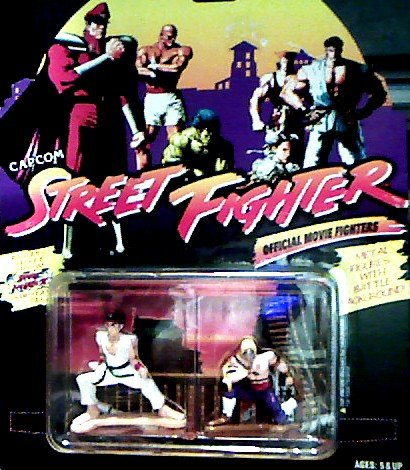 Picture of Hasbro Ryu Hoshi Vs. Vega Die Cast Metal Action Figures - Capcom Street Fighter Official Movie Fighters (B002807Z9Y) (Hasbro Action Figures)