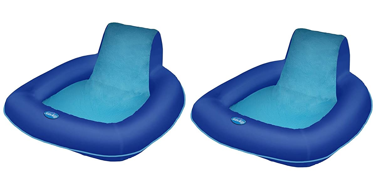 SwimWays Spring Float SunSeat Floating Pool Lounge Chair (2-Pack) | 13017