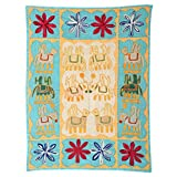 Rajrang Home Décor Embroidered Patch Work Cream Wall Hanging