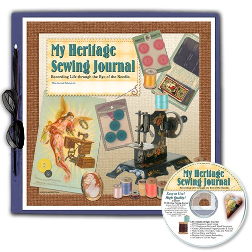 Scrapsmart - My Heritage Sewing Journal - 12X12 Scrapbook Kit - Cdhs27Ak - 227 Microsoft Word Templates And 227 Jpeg Files (Cdhs27Ak)