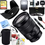 Sony (SELP18105G) E PZ 18-105mm f/4 G OSS Power Zoom Lens + 64GB Ultimate Filter & Flash Photography Bundle (Color: Black)
