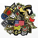 30pcs/Set Mixed Troops Army Patches Badge Military Embroidery Patch Iron on for Clothes Jacket Jeans Applique (Tamaño: 30pcs Troops Army Patches)
