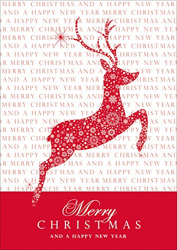 Erh ltlich im 1er 4er 8er set merry christmas and a for Text weihnachtskarte englisch