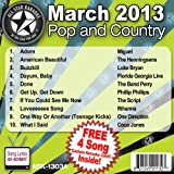 All Star Karaoke March 2013 Pop and Country Hits A (ASK-1303A)