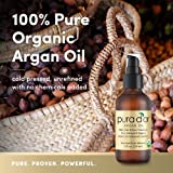 PURA DOR Moroccan Argan Oil 100% Pure & USDA Organic For Face, Hair, Skin & Nails, 4 Fluid Ounce