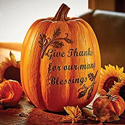 Thanks & Blessings Resin Pumpkin