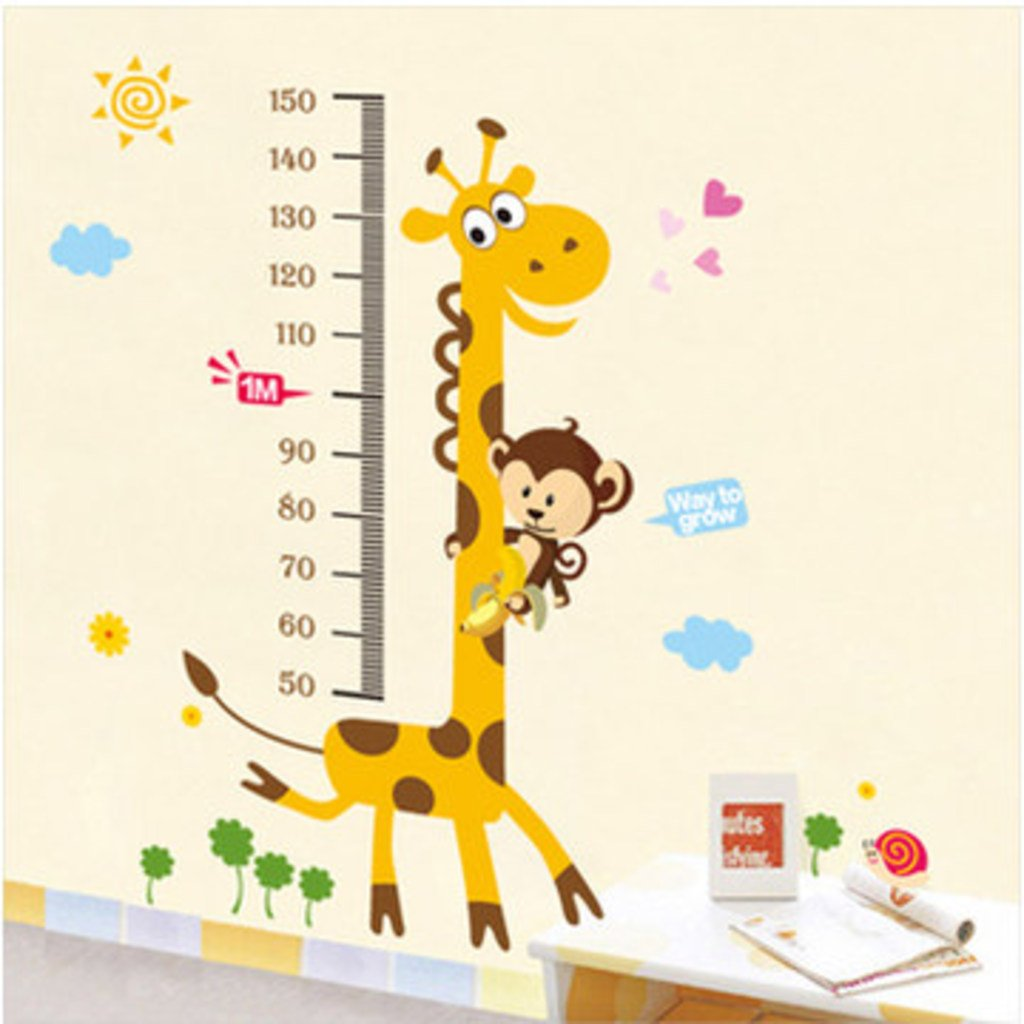 buy decals design kids giraffe height chart wall sticker pvc vinyl 50 cm x 70 cm online at low prices in india amazonin - Wall Design For Kids