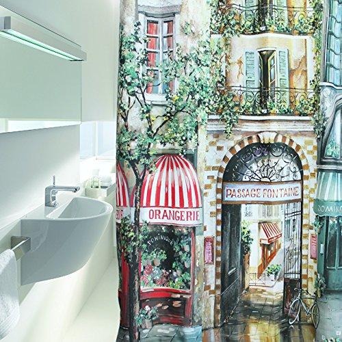 La tenda della doccia doccia Nordica Vintage Tela impermeabile Bagno Porta bagni la tenda della doccia tende Bagno personalitš€ allungato