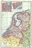 NETHERLANDS: Holland.Railways canals.Inset Amsterdam & Rotterdam plans 1920 map