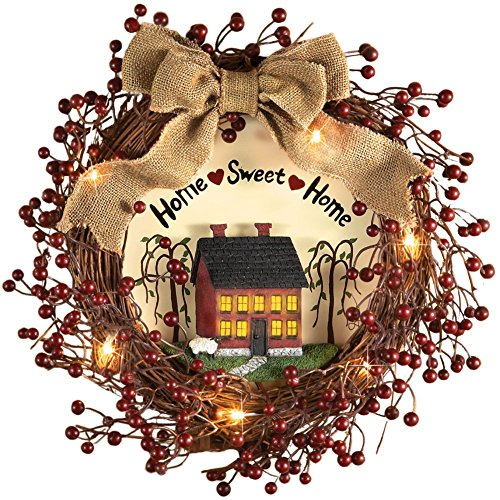 Lighted Primitive Country Wreath