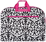 World Traveler Pink Damask 40-inch Hanging Garment Bag