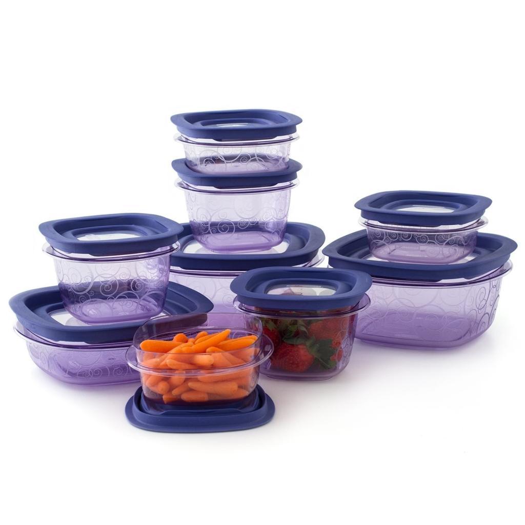 Amazon Com Rubbermaid Premier 18 Piece Food Storage Set