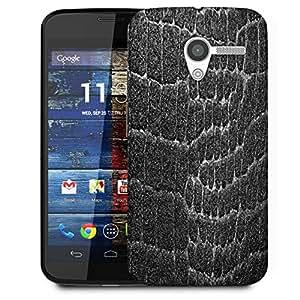 Snoogg Black Stones Designer Protective Phone Back Case Cover For Moto X / Motorola X