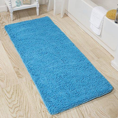 Bedford Home Memory Foam Shag Bath Mat 2 Feet By 5 Feet