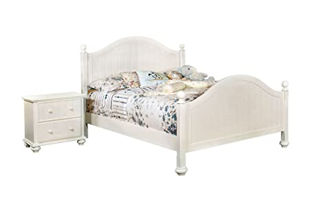 Furniture of America Hazlet 2-Piece Cottage Style Panel Bedroom Set, Queen, White Finish
