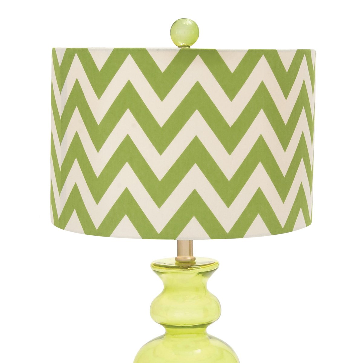 lime green glass lamps
