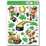 Leprechaun Shamrock Clings Party Accessory (1 count) (10 Sh)