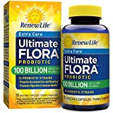 Renew Life Ultimate Flora Extra Care Probiotic 100 Billion (Formerly Ultra Potent), 30 Count