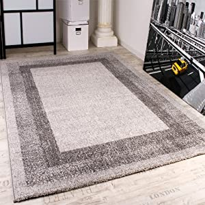 Modern Designer Carpet -Winchester- Modern Rug in Grey Silver from PHC