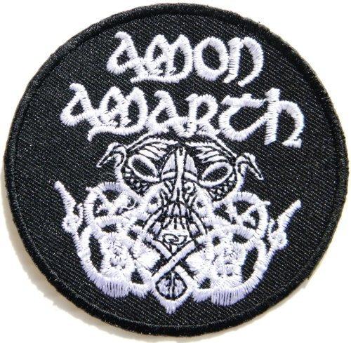 "7,62 cm x (3 7,62 cm (3"") AMON AMARTH Odin Death music Band Heavy Metal-Giacca PunkLogo Iron patch-Maglietta on ricamato sulla musica music patch ricamato"