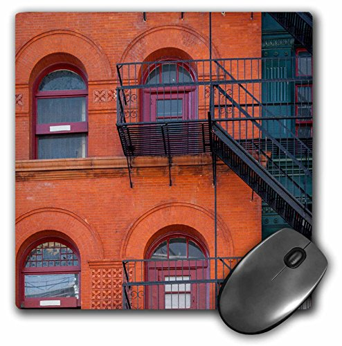 Danita Delimont – Buildings – Brick building with fire escapes, SOHO, Manhattan, New York City, USA. – MousePad (mp_206741_1)