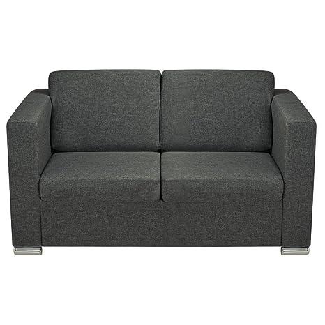 Milano Canapé de salon en tissu gris foncé