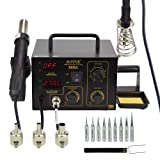 Aoyue 888A 2 in 1 Digital Hot Air Rework and Soldering Station (Color: Black)