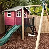 12ft x 13ft Wooden Poppy Activity Tower Playhouse + Swing + Slide - Brand New 12x13 Wood Cottage Playhouses