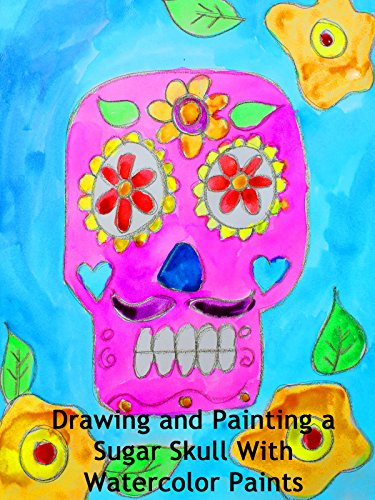 Drawing and Painting a Sugar Skull With Watercolor Paints