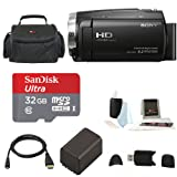 Sony HDR-CX675 Handycam Full HD 1080p Camcorder w/ Lithium Ion Battery & 32 GB Micro SD Card Bundle