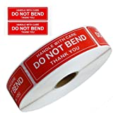 Handle With Care - Do Not Bend - Thank You Shipping Stickers Labels, 1