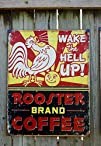 Rooster Brand Coffee Distressed Retro…
