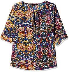 Harpa Women's Body Blouse Shirt (GR3259-BLUE_S)