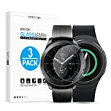 OMOTONTemperedGlassScreenProtectorCompatiblewith SamsungGalaxyWatch42mm/ GearS2/ Gear Sport[3Pack]