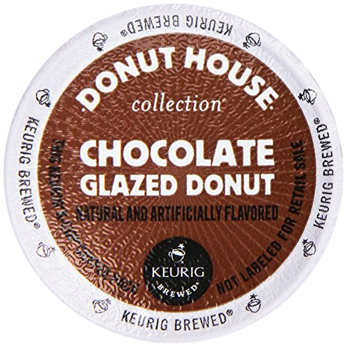 Donut House by Green Mountain 94-06722 Chocolate Glazed Donut K-cups, 24-Count