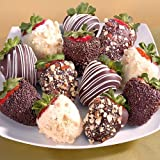 12 Fathers Day Nutty Chocolate Covered Strawberries