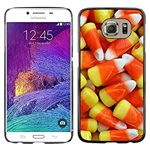 Omega Covers - Snap on Hard Back Case Cover Shell FOR Samsung Galaxy S6 - Sweets Yellow Orange Gummy Food